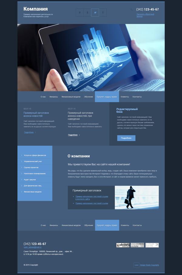 Макет сайта для финансовой компании размещение ссылок в тематических статьях